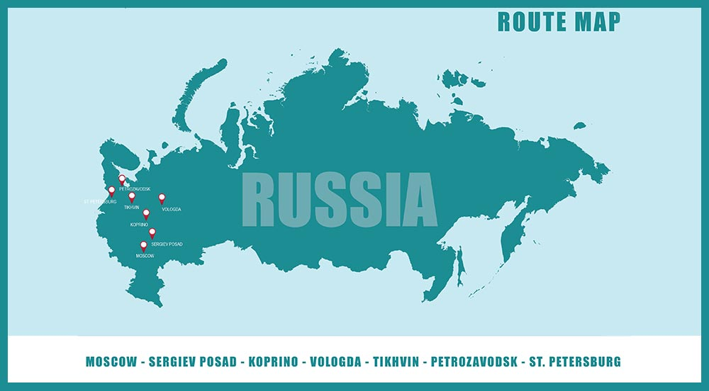 Winter Drive in Russia 2022 - Route Map