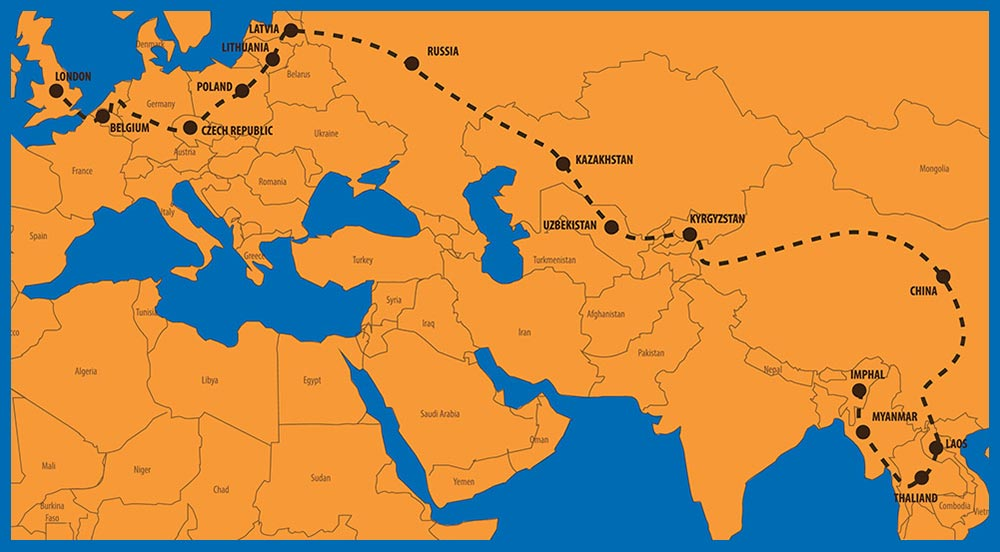 Road To London 2021 - Route Map