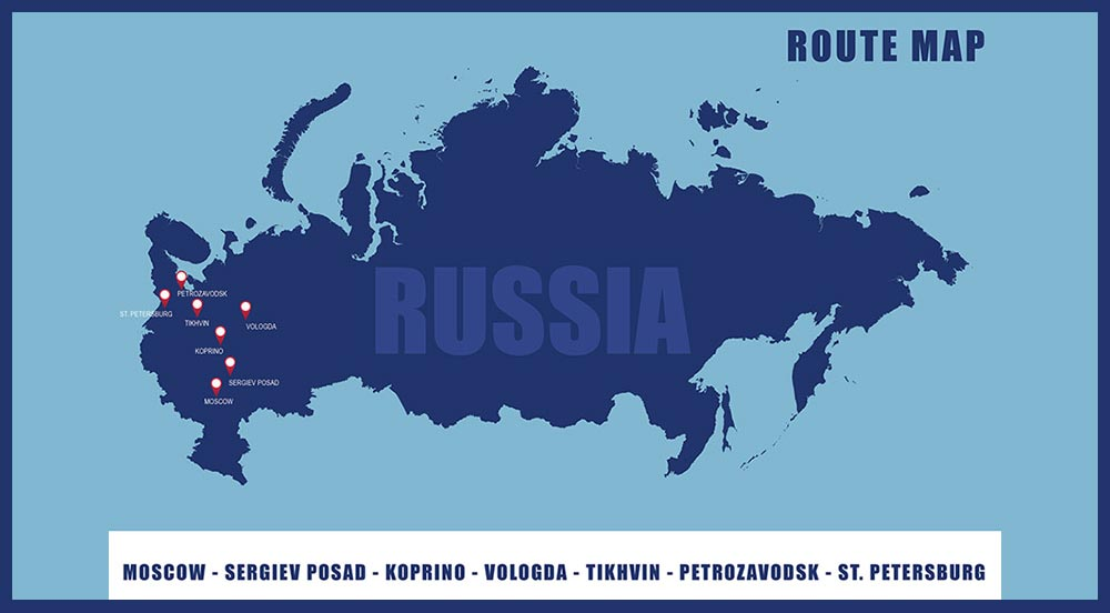 Winter Drive in Russia 2021 - Route Map
