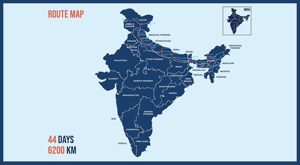 Trans-Himalayan Expedition 2021 - Route Map