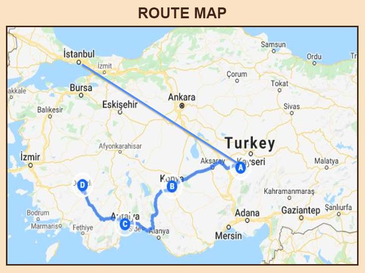 Turkey - Route Map