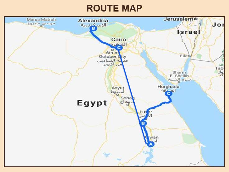 Egypt - Route Map