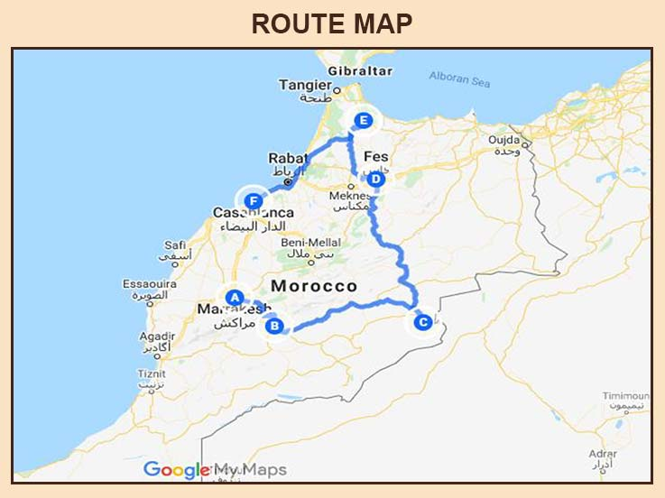 Morocco - Route Map