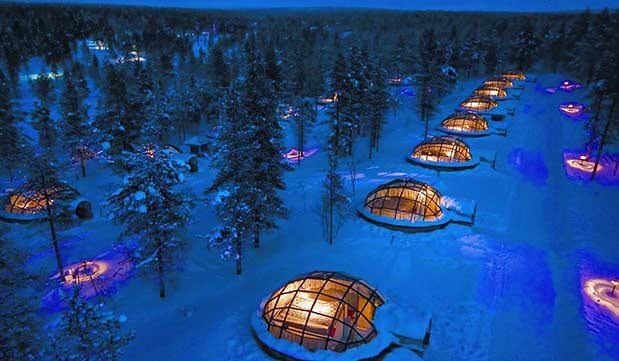 Day 12 - Transfer to Kakslauttanen Arctic Resort and settle into your Glass Igloo