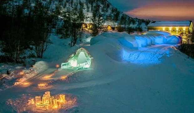 Day 11 - Arrive into Kirkenes port, transfer to the Snowhotel with a Arctic King Crab Safari