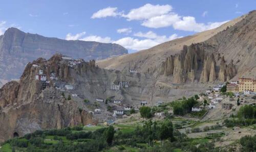A marvellous view of Dhankar Monastery on way to Kaza