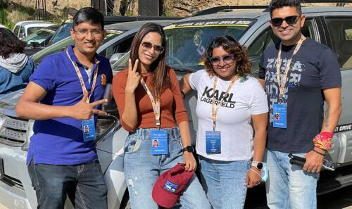 Our cool BANGalorians - Sanyam, Sonal, Golda and Vikram