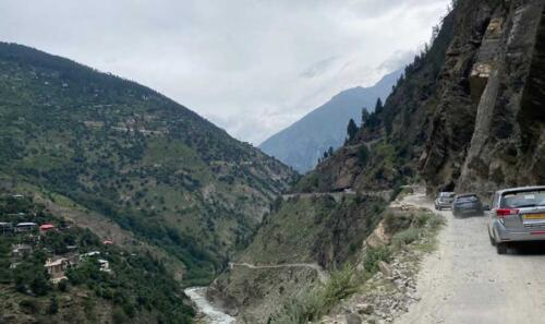Convoy Rolling along the Sutlej River