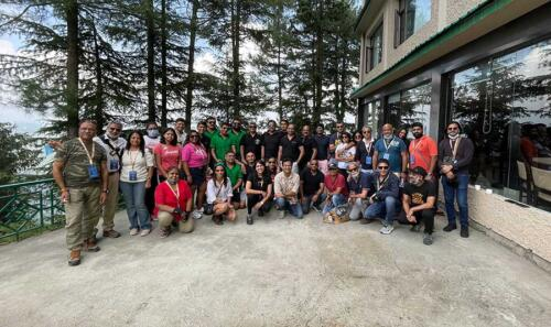 Our first group picture at lunch on way to Narkanda