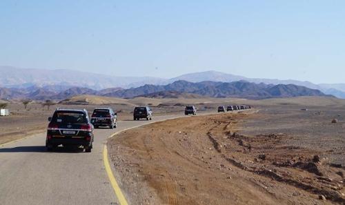 En route Wadi Rum
