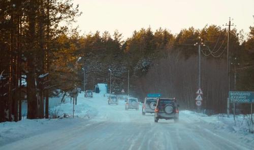En route Tikhvin